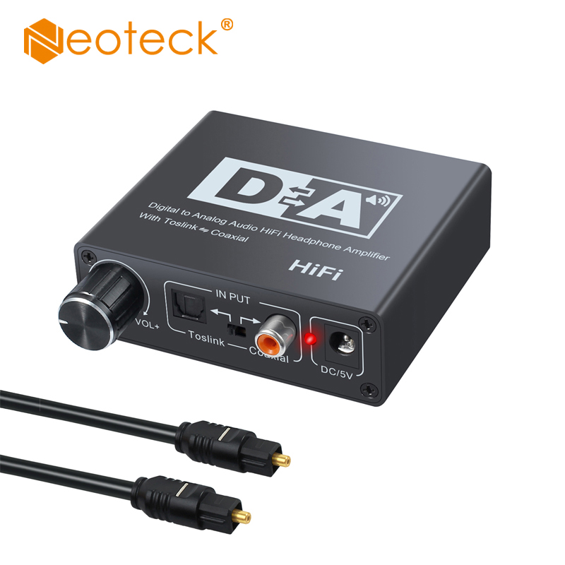 192KHz Bi-directional Optical Toslink to Coaxial and Coaxial to Optical Toslink Switch Digital to Analog Switcher DAC Converter