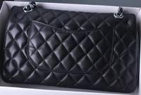 Top Quality Lambskin Leather Bag Women Luxury Brand Design Double Flap Shoulder Bag Classic Woc Plain Cross Body Chains Bag 25cm