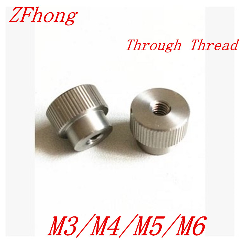 20pcs M3 M4 M5 M6 Stainless Steel Knurl Nut Step Through thread Hand tighten Thumb Nut 4pcs set hand tap hex shank hss screw spiral point thread metric plug drill bits m3 m4 m5 m6 hand tools