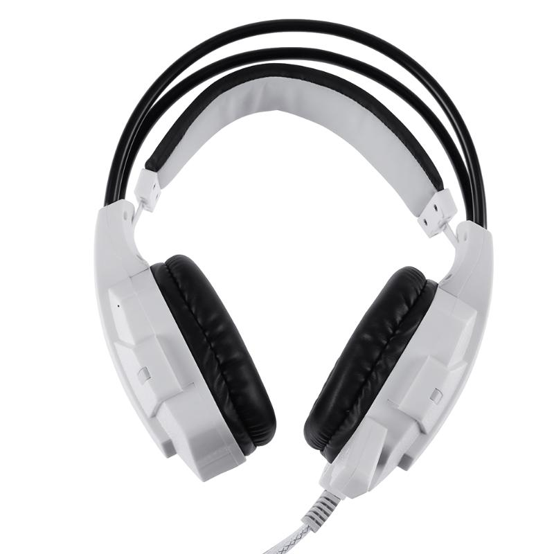 Gaming Wired Headphones with Microphone Stereo Adjustable Headsets Earphones for PC Games