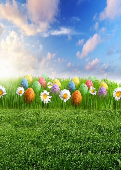 Spring Easter vinyl photography backdrops 5 ft  x 8 ft for photo studio portrait photographic background F-017 8 ft vinyl cloth spring easter day photography backdrops for kids party photo studio portrait background props f 058
