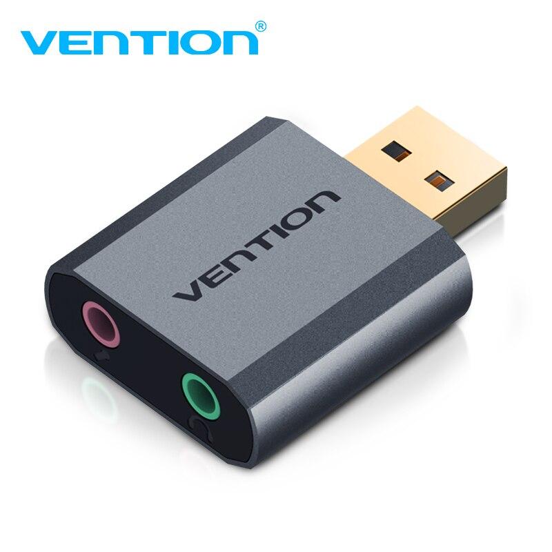 Vención de la tarjeta de sonido USB a 3,5mm de Audio adaptador de auriculares de PUBG tarjeta de sonido externa 7,1 Tarjeta de Audio para micrófono auriculares de la PC de la computadora