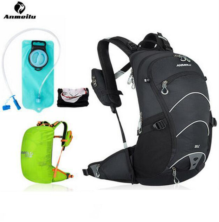 ANMEILU 20L Bicycle Bike Bag Water Bags Bladder Hydration Cycling Backpack Outdoor Sports Climbing Camping Hiking Camelback anmeilu 20l bicycle backpack with helmet net rain cover 2l bike water bag waterproof outdoor cycling hiking hydration backpack
