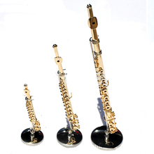 MoonEmbassy 3D Musical Instrument Flute Miniature Display Model Realistic Music Lover Birthday Gift with Box