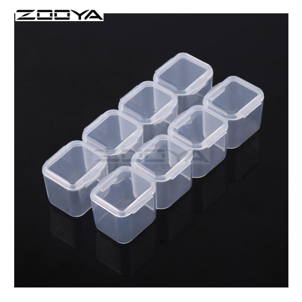 ZOOYA инструменты для вышивки картин со стразами аксессуар контейнер для бисера Алмазная вышивка для хранения камней коробка для ювелирных изделий Мозаика удобство T007 - Цвет: 8  Slots