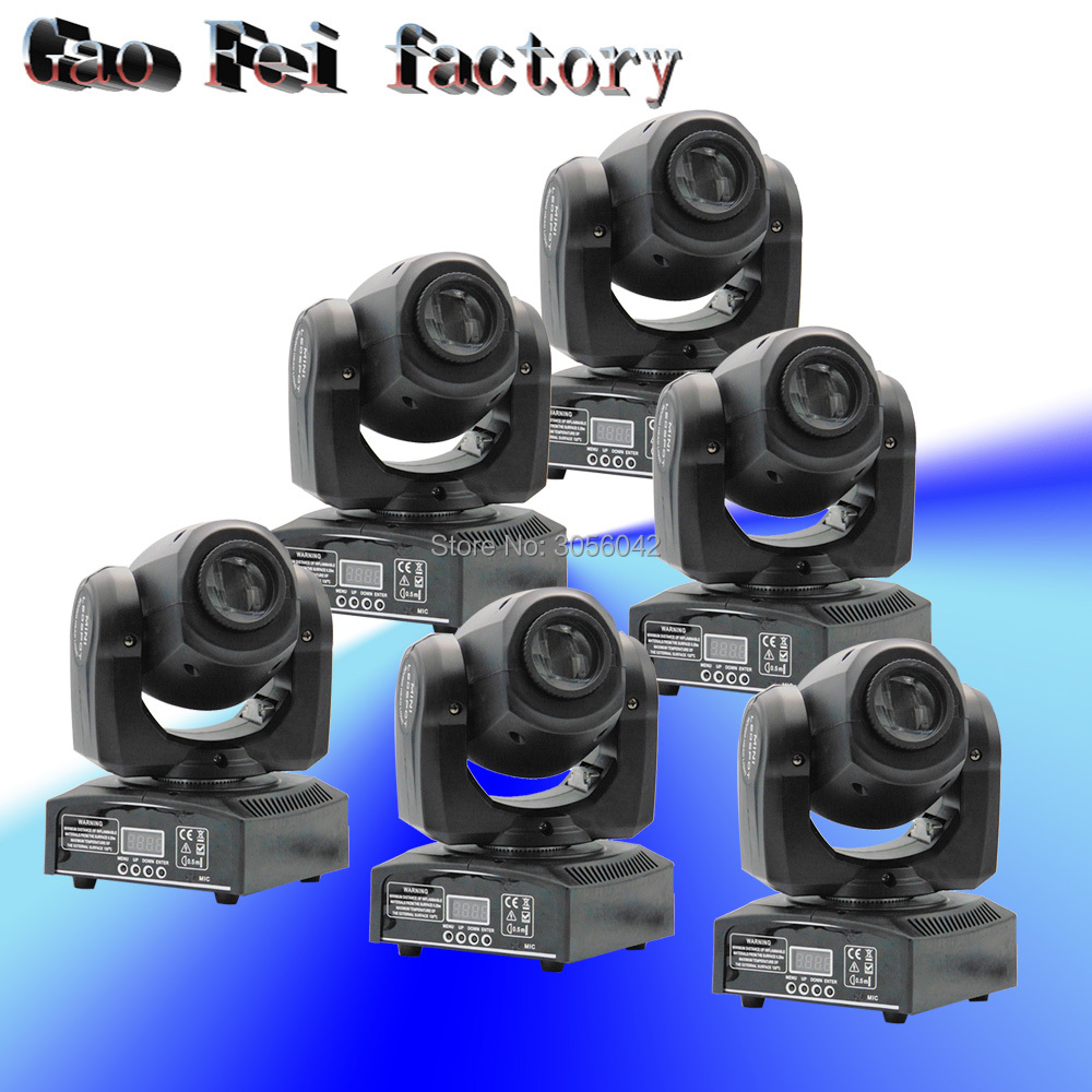6pcs/lot gobo light/ LED Spot Moving Head / 10W DJ disco /DMX effect stage lights free shipping 6pcs lot 120w moving head light sharpy beam 2r led lights dj disco club party wedding stage effect