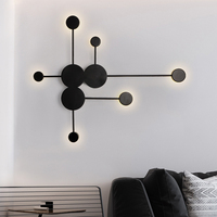 24 Вт светодиодный настенный светильник творческий декоративный свет Гостиная настенный светильник для спальни Потолочный Светильник Бра