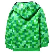 Мода Minecraft hodie пальто для мальчиков и девочек Шерсть Демисезонный Creeper пальто детские повседневные Пуловеры плотные толстовки От 4 до 14 лет(China (Mainland))