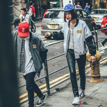 2XL весна осень для мужчин и женщин Корейский ulzzang тонкий бейсбольная форма пальто пара Harajuku High Street свободные Авиатор ma1 куртка топы