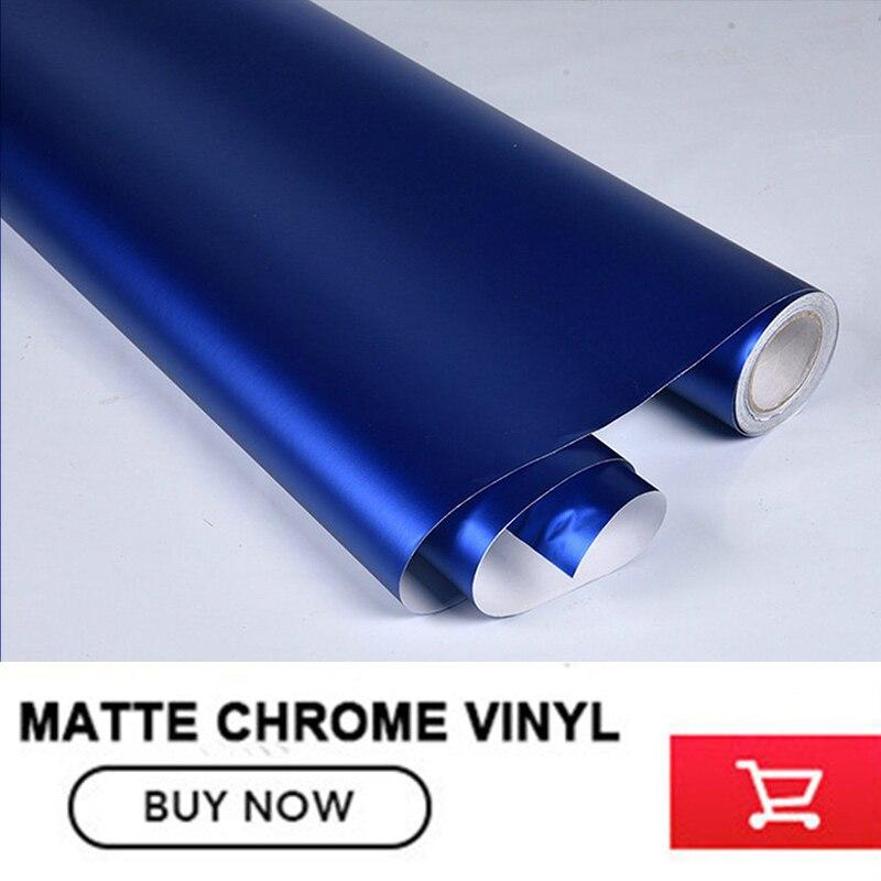 Classique bleu Profond Mat Chrome Vinyle mat Voiture De vinyle Wraps Autocollant Changement de Couleur film Autocollant De Voiture Avec la Bulle libre 12 couleur - 6