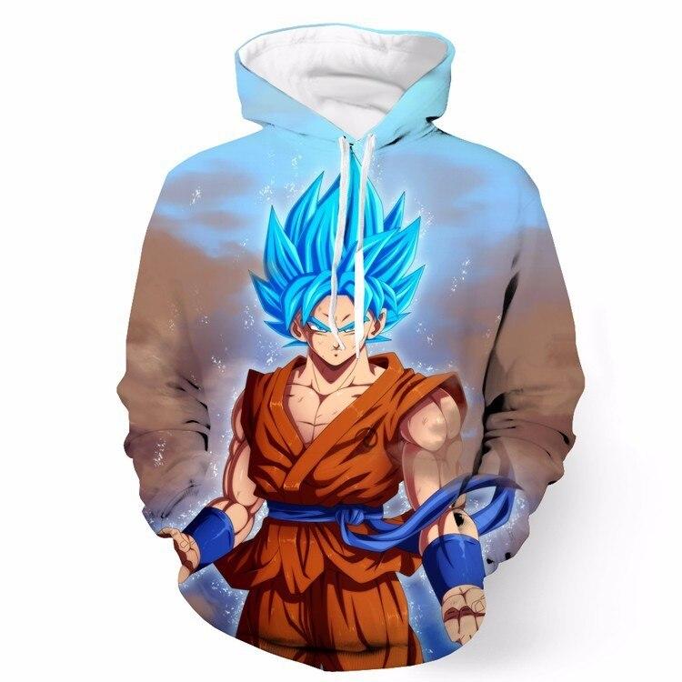 €19.42 15% de réduction|2017 sept Dragon Ball Super Saiyan 3D imprimer manteau à capuche veste Sweatshirts livraison gratuite in Sweats à capuche et
