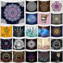 Unicorn tapestry mandala hanging wall home decoration  wall art tapestry bedroom tapestry size 1500mm*1500mm цена 2017