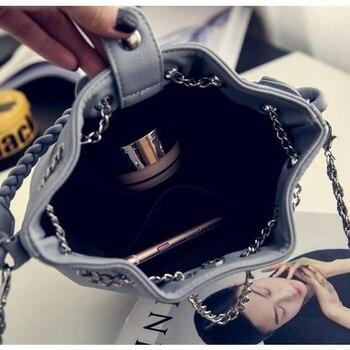 Women's PU Leather Bucket Bag  6