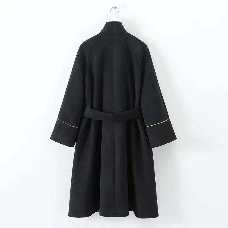 sale retailer b517b dba7a Cappotto Inverno Delle Cappotti Nero Black Manteau Cashmere ...