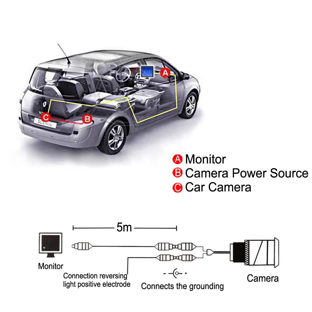 4.3 дюймов цветной tft lcd 480 x 272 вид сзади автомобиля монитор автомобиля авто парковка заднего вида обратный монитор для камеры dvd vcd