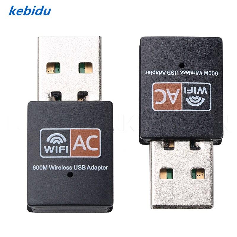 Flight Tracker Kebidu Neue Dual Band 600 Mbps 2,4 + 5,8 Ghz Wireless Usb Netzwerk Karte Wifi Adapter Antenne Pc Empfänger Für Mac Windows Xp/vista Heißer