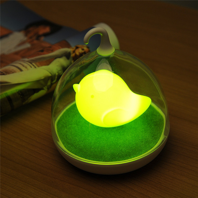 USB Rechargeable Birdcage LED Night Light Portable Touch Sensor Dimmer Lamp Home Decor Atmosphere Nightlights Outdoor Camping