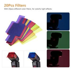 Image 4 - Andoer AD560 IV Pro 온 카메라 스피드 라이트 플래시 라이트 플래시 트리거 컬러 필터 캐논 니콘 소니 카메라 용 디퓨저 핫슈