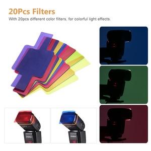 Image 4 - Andoer AD560 IV פרו על מצלמה Speedlite פלאש אור פלאש טריגר צבע מסנני מפזר חם נעל עבור Canon ניקון sony מצלמה