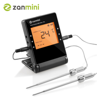 Zanmini Wireless Oven Thermometer Kitchen Food Cooking Meat BBQ Probe Thermometer With Timer Water Milk Temperature Cooking Tool