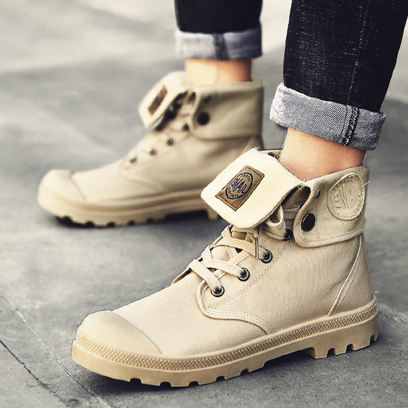 Men high top Canvas shoes Military Tactical Boots Desert Combat Outdoor Army Travel Shoes Ankle Boots gray black  boots кроссовки на платформе купить украина
