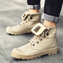 Men high top Canvas shoes Military Tactical Boots Desert Combat Outdoor Army Travel Shoes Ankle Boots gray black  boots недорого