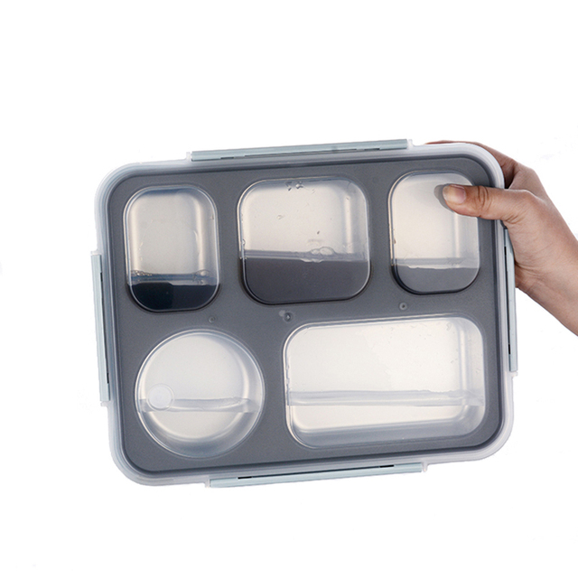 Thermal Bento Box with Tableware Food Container with Compartments For Students Office Worker