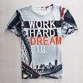 [Amy] 2016 Moda verão t-shirt Dos Homens/Mulheres de personalidade Interessante imprimir-manga curta casual t shirt 3d marca de topo em t