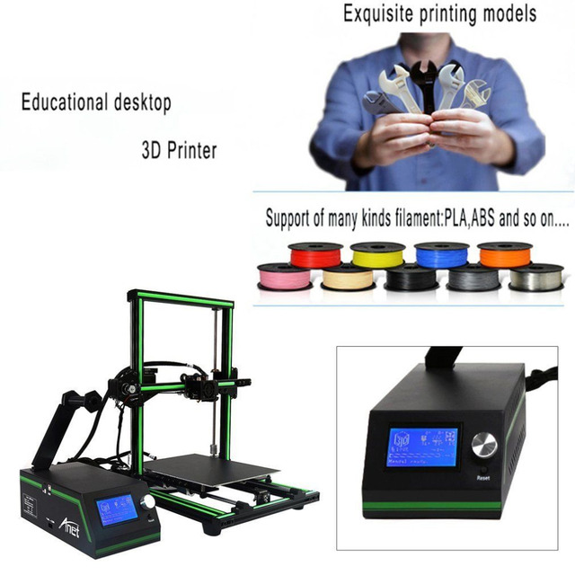 LCD Display Professional 3D Printer High Precision Aluminum Alloy Frame Large Printing Size DIY 3D Printer Kit 4