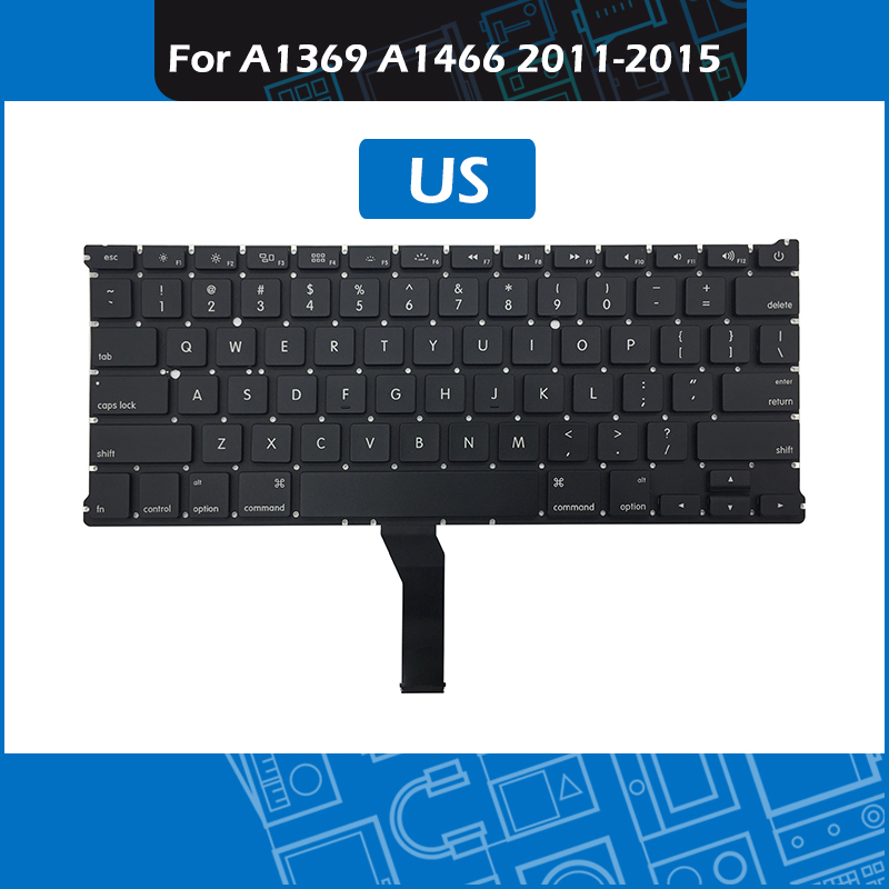10pcs Lot A1466 Keyboard US Layout for Macbook Air 13 A1369 A1466 Replacement keyboard 2011 2012