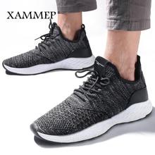 גברים נעליים יומיומיות גברים סניקרס מותג גברים נעלי זכר רשת דירות לופרס באיכות גבוהה לנשימה להחליק על אביב סתיו Xammep