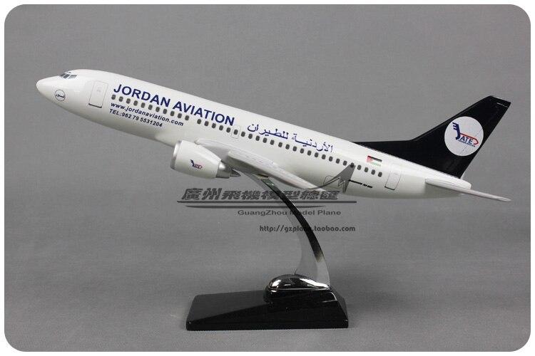 43 cm Jordan Airlines avion modèle Boeing 737-300 jordanien Aviation B737 moulé sous pression modèle Jordan Airways avion modèle échelle jouet