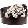 Fashion New Men's belt metal buckle belts angry Bulldog Street Dance accessories hip hop waistband novel belt for women