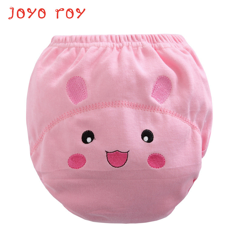Joyo Roy Baby Boys&girls Pure Cotton Three-tier Training Pants Diapers Embroidery LABS Pants Nappy Suits Dj0035R