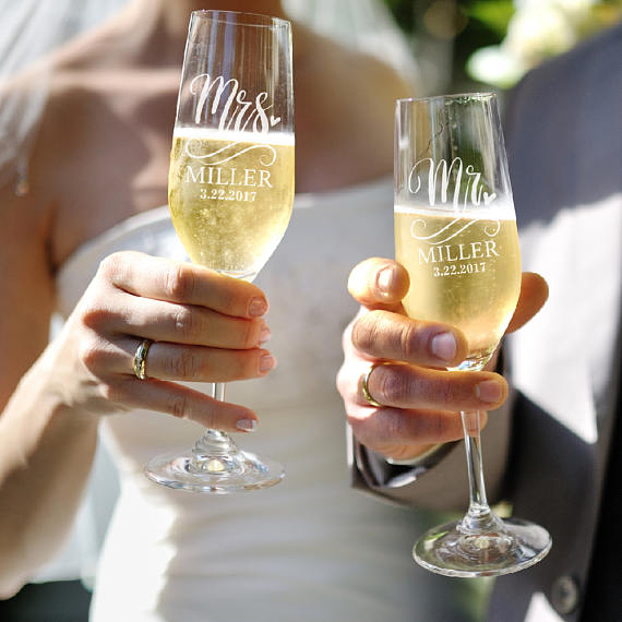 Wedding Gift Champagne Flutes: Champagne Glasses Luxury Crystal Toasting Flutes And Wine