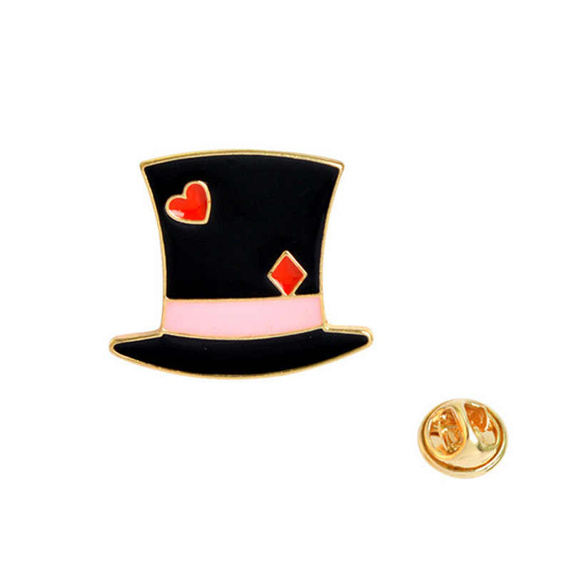 1 шт. мультяшная Волшебная Шляпа замок Металлическая корона брошки пуговицы заколки джинсовая куртка булавка украшения ювелирных изделий значок для одежды нагрудные булавки