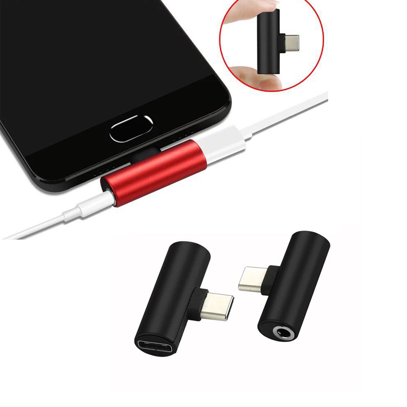 2 In1 Type C To 3.5mm Jack Earphone Charging Converter USB Type-C Audio Cable Adapter For Xiaomi 6 Huawei P10 Mate 20 Type C