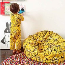 Lazy banana bean bag Sofa Baby Seat Beanbag Children Sofa for Kids Sleeping Bed Baby Nest Puff Chair Plush Toys