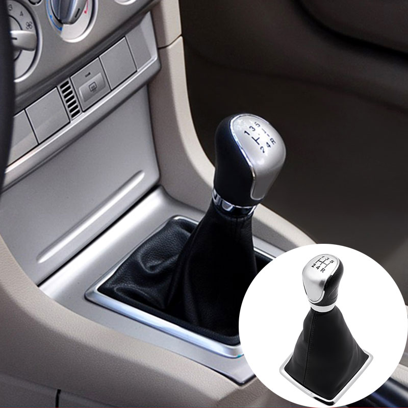 Car 5 Speed Manual Gear Stick Shift Lever Knob  For Ford/Focus 2009-2015 Car Accessories Abrasion-proof Transmission Rod Shield