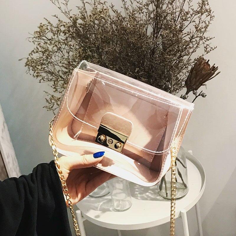 Beaocly Famous Brands bag Fashion Llock Women Crossbody bags For Women Clutches PVC Mini Small Women Bag Lady Chain Shoulder bag