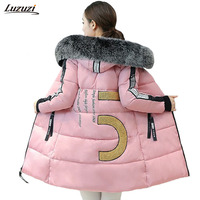 1PC Winter Jacket Women Fur Hooded Parka Thick Cotton Coat Women Jaqueta Feminina Inverno Chaquetas Mujer