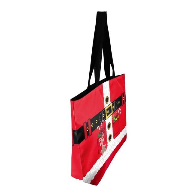 Fashion High Quality Printing Red Casual Canvas Tote Bag Women Shoulder Bags Handbag 1