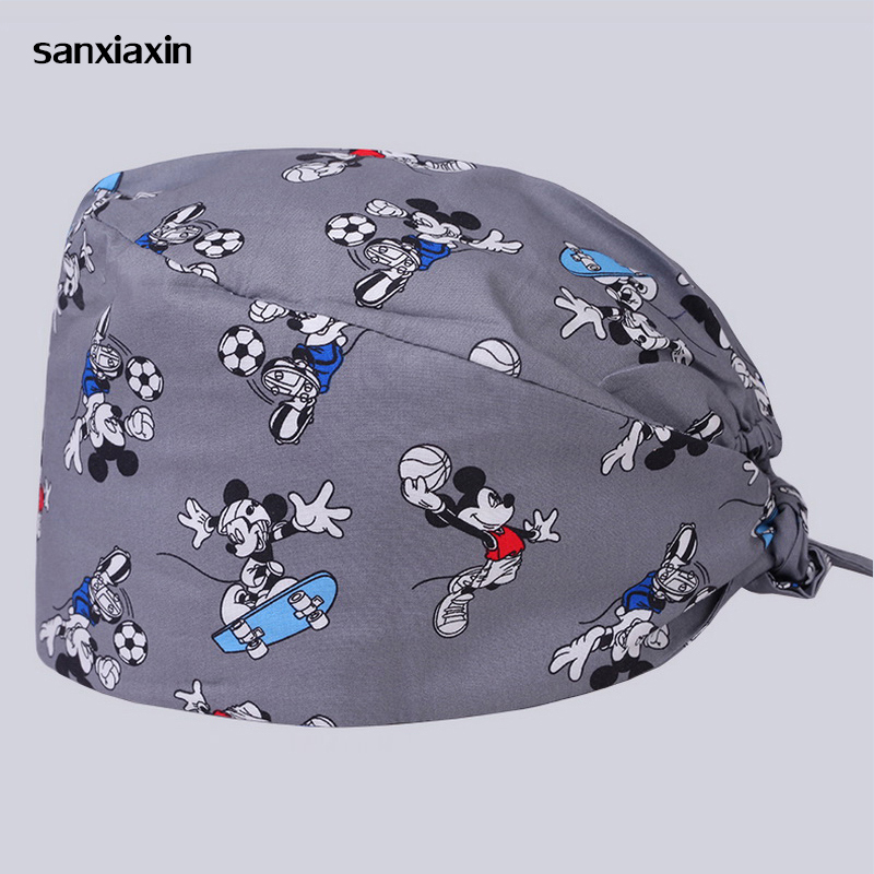 Sanxiaxin Medical Scrub Nurse Cap Pet Doctor Hat Hospital Doctor Surgery Hat Dentist Veterinary Fashion Adjustable Surgical Cap