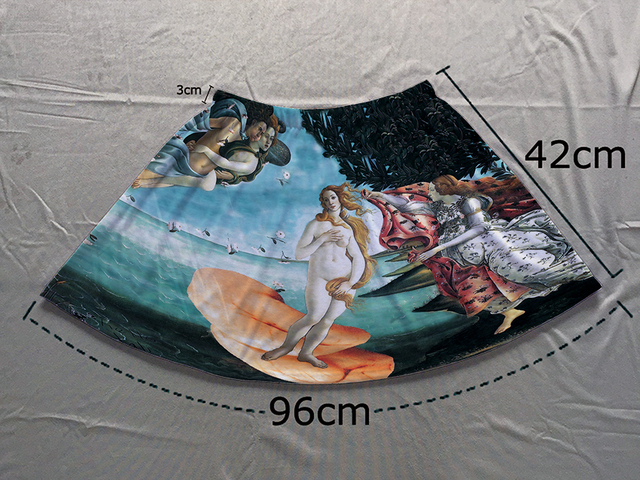 c19a689bb4497 Track Ship+Double Print Comfortable Light Luxury Short Flare Mini Skirt The  Birth of Venus Myth Sandro Botticelli Painting 1469-in Skirts from Women's  ...