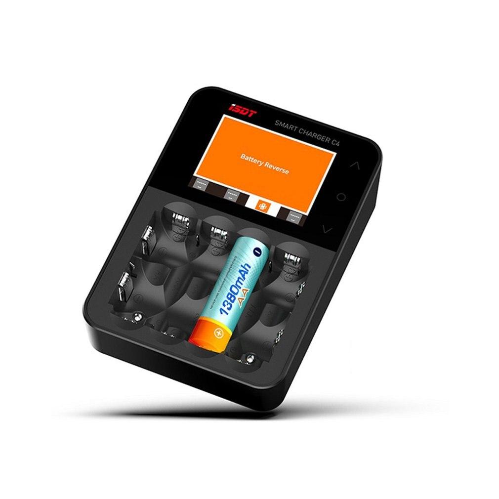 D'ISDT PORTANT SUR la C4 8A Écran Tactile Smart Batterie Chargeur Avec 6 Canaux USB Sortie Écran de Grande taille Pour 18650 26650 AA Batterie