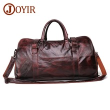 JOYIR Soft Cow Leather Extra Large Weekend Duffel Bag Large Genuine Leather Business Men's Travel Bag Popular Design Duffel Bags цена