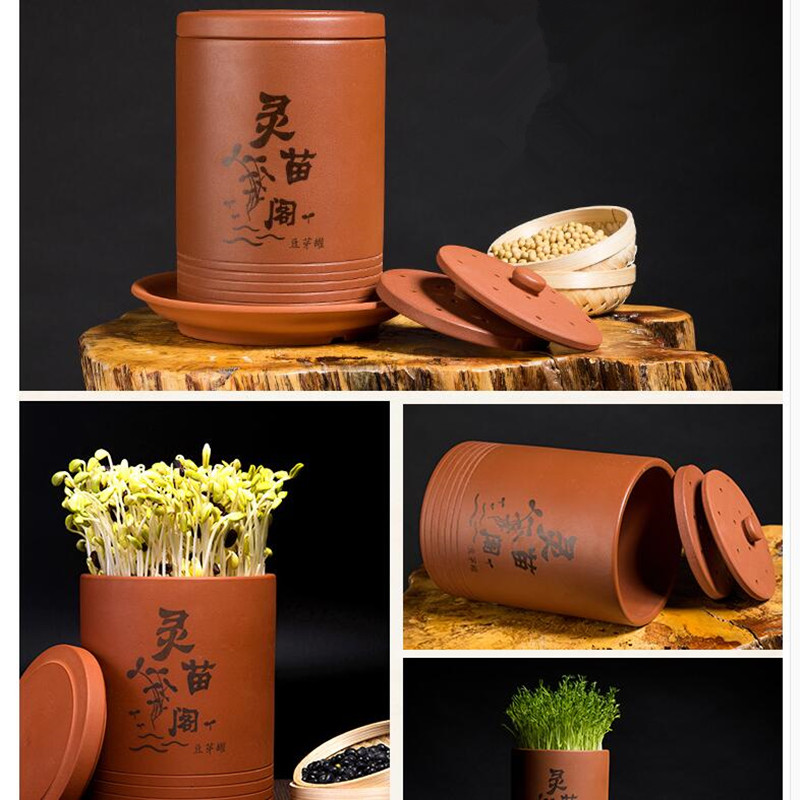 Bean Sprouts Machine Earthenware Jar Household Automatic Bean Sprouts Jars Machine Ecological Soybean Sprouting Without Electric rudi hilmanto local ecological knowledge
