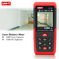 UNI T UT396B Professional Laser Distance Meters 393ft 120m Rangefinder Best Accuracy 1.5mm 2MP Lens Camera Auxiliary USB Connect