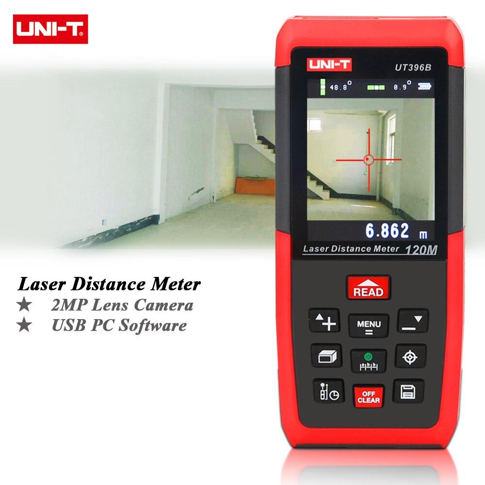 UNI-T UT396B Professionnel Laser Distance Mètres 393ft 120 m Télémètre Meilleure Précision 1.5mm 2MP Lentille Caméra Auxiliaire USB Connecter