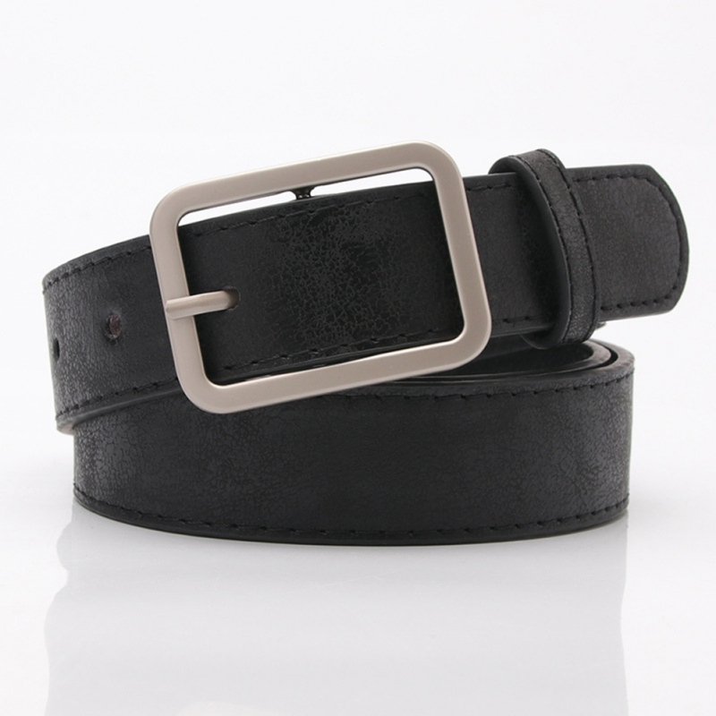 Female Waist Belt Gold Shiny Black Belt Faux Leather Wide Jeans Fashion Pin Buckle Waistband Cinturon Mujer 105*2.8 CM(China)